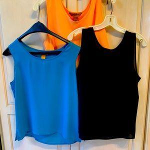 Set of ladies camisole blouse size Large